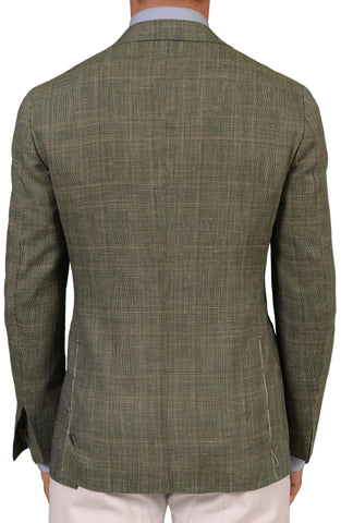 Sartoria PARTENOPEA Hand Made Green Prince Of Wales Wool-Silk-Linen Jacket NEW - SARTORIALE - 2