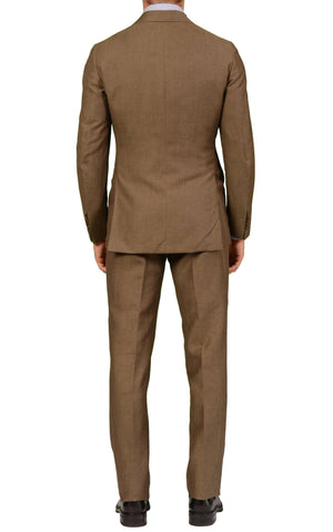 Sartoria PARTENOPEA Hand Made Taupe Wool-Linen Spring-Summer Suit NEW - SARTORIALE - 2