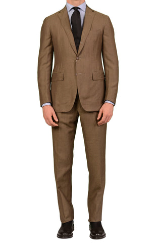 Sartoria PARTENOPEA Hand Made Taupe Wool-Linen Spring-Summer Suit NEW - SARTORIALE - 1