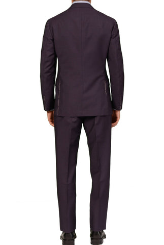 Sartoria PARTENOPEA Hand Made Solild Purple Wool-Mohair Peak Lapel Suit NEW - SARTORIALE - 2