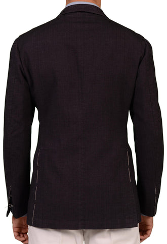 Sartoria PARTENOPEA Handmade Purple Herringbone Cotton DB Jacket EU 52 NEW US 42 - SARTORIALE - 2