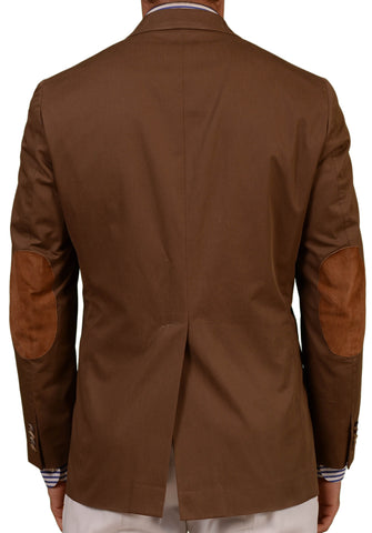 Sartoria PARTENOPEA Hande Made Solid Brown Cotton DB Blazer Jacket 50 NEW 40 - SARTORIALE - 2