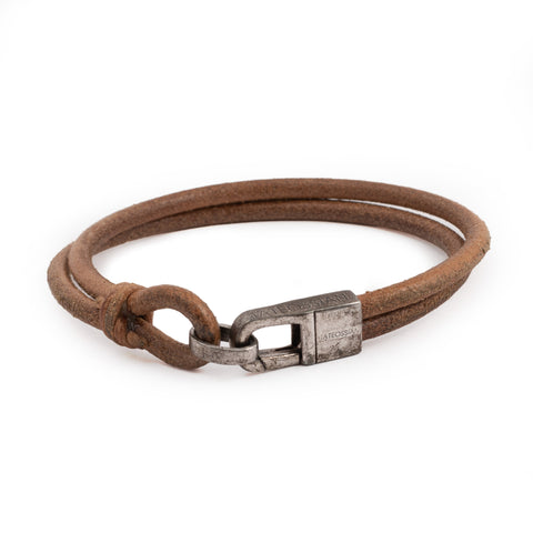 TATEOSSIAN Light Brown Leather Bracelet Large