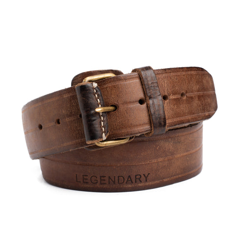 "THEDI LEATHERS ""Legendary"" Brown Handmade Thick Leather Belt NEW"