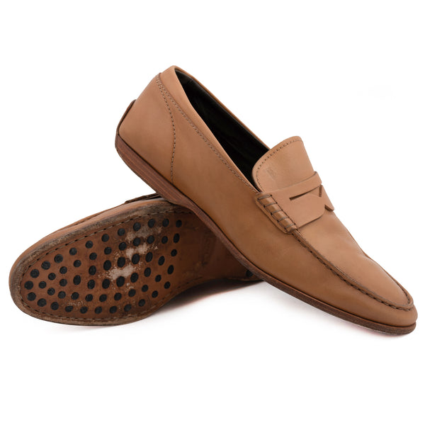 864ccbb0414 TOD S Tan Leather Slip-On Driving Shoes Penny Loafers IT 6.5 US 7.5 –  SARTORIALE