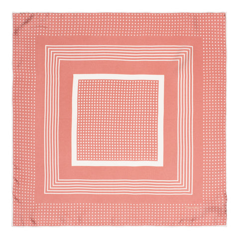 TOM FORD Pink Dot Sqaure Silk Classic Pocket Square Pochette NEW 40cm x 40cm