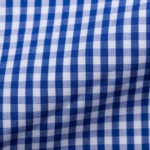 TURNBULL & ASSER Bespoke Blue Gingham Check Cotton Button-Down Shirt NEW 15.75