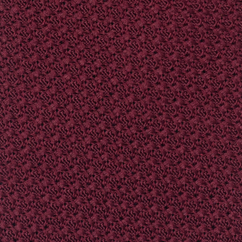 TURNBULL & ASSER Classic Handmade Burgundy Grenadine Silk Tie NEW