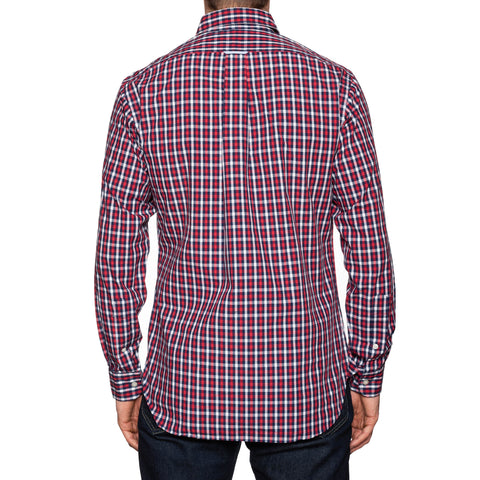 UNIONMADE KENNETH FIELD Modern Traditional Red Plaids Shirt US 15.5 NEW EU 39