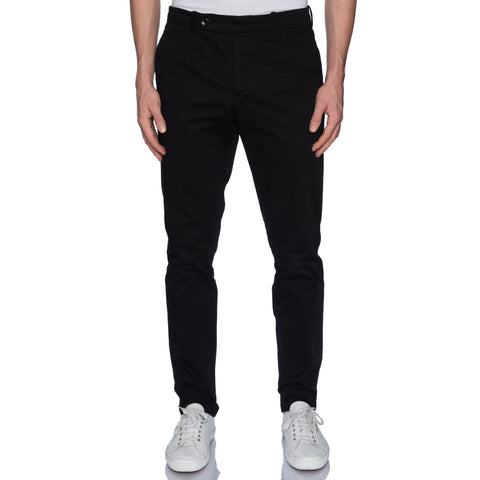 "UNIS ""GIO"" Black Twill Cotton Slim Fit Casual Pants US 33 Slim Fit"