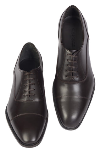 CANALI 1934 Dark Brown Calf Leather Balmoral Oxford Dress Shoes EU 40 NEW US 7