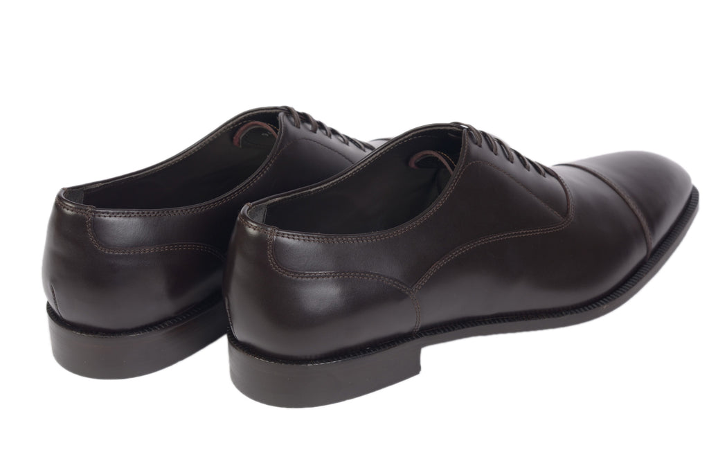CANALI 1934 Dark Brown Calf Leather Balmoral Oxford Dress Shoes NEW with Box Herrenschuhe Kleidung & Accessoires