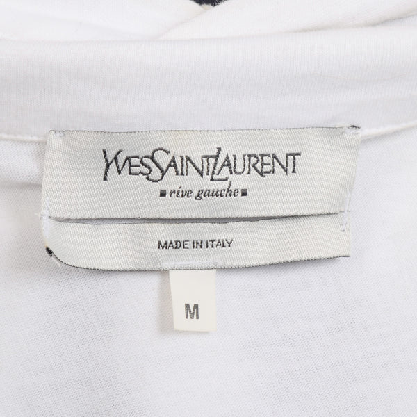 8f66df2b5d07 YVES SAINT LAURENT Rive Gauche by Tom Ford White YSL Big Logo Polo Shi –  SARTORIALE