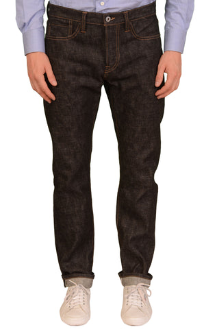 "ROGUE TERRITORY RGT ""Stanton"" Black Cotton Selvedge Slim Straight Jeans NEW 32"