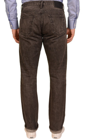 "ROGUE TERRITORY RGT ""Stanton"" Gray Cotton Slim Straight Selvedge Jeans US 32"