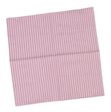KITON NAPOLI White-Purple Striped Cotton Pocket Square Pochette NEW 33cmx33cm - SARTORIALE - 1