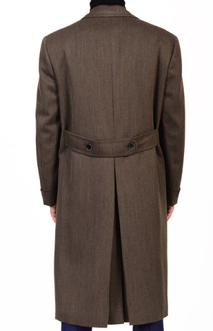 "BRIONI ""Isarco"" Olive Green Cotton Twill Double Breasted Polo Coat 50 NEW US 40 - SARTORIALE - 8"