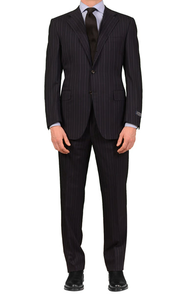 CANALI Exclusive Collection Navy Striped Super 150's Wool Suit NEW