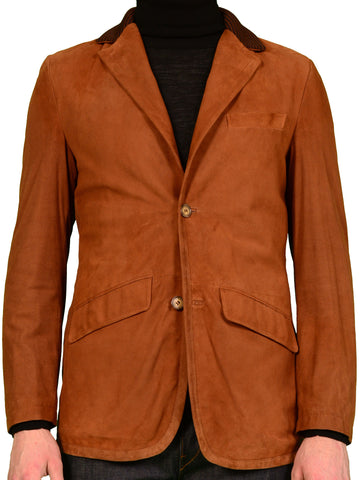 K. Punto Rosso by KITON Napoli Brown Suede Spring Jacket Blazer Coat 50 NEW 40 - SARTORIALE - 1