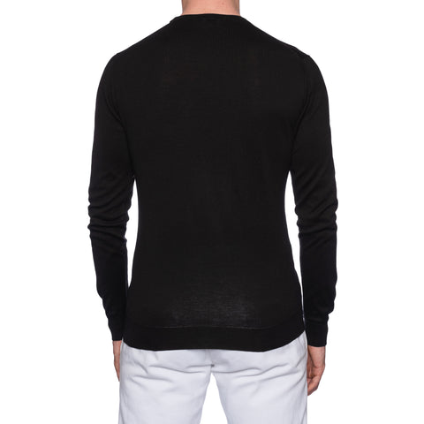 Z ZEGNA TECHMERINO Black Wool Zip Cardigan Sweater Sweatshirt NEW Size L