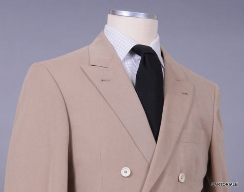 BRUNELLO CUCINELLI Tan Cashmere Double Breasted Peak Lapel Jacket 48 NEW 38 36 - SARTORIALE - 2