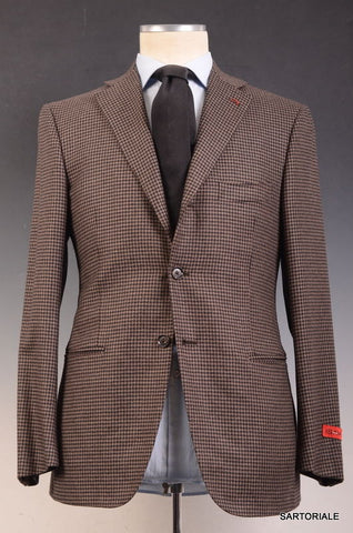"ISAIA NAPOLI ""Base L"" Brown Shepherd's Check Wool-Cashmere Jacket NEW - SARTORIALE - 2"