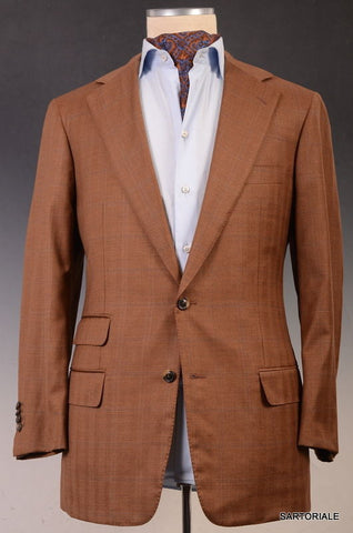 JAY KOS New York Rust Plaid Light Wool Jacket Blazer EU 52 NEW 40 42 - SARTORIALE - 2