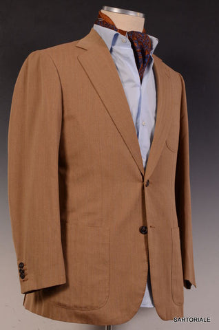 JAY KOS New York Tan Solaro Wool-Mohair Blazer Jacket EU 48 NEW US 38 - SARTORIALE - 2