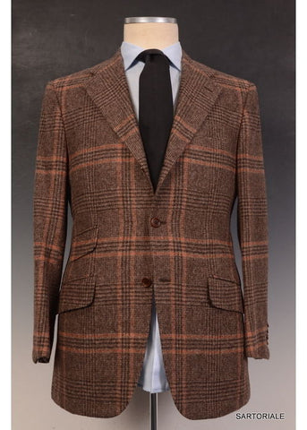 "KITON Napoli ""CIPA 1960"" Brown Plaid Wool Tweed Jacket 38 40 NEW 50 R9 Slim Fit - SARTORIALE - 1"