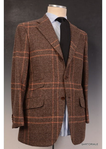"KITON Napoli ""CIPA 1960"" Brown Plaid Wool Tweed Jacket 38 40 NEW 50 R9 Slim Fit - SARTORIALE - 2"