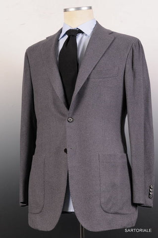 KITON Napoli Solid Gray Cashmere Silk Jacket US 38 40 NEW EU 50 R8 Slim Fit - SARTORIALE - 2