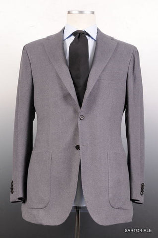 KITON Napoli Solid Gray Cashmere Silk Jacket US 38 40 NEW EU 50 R8 Slim Fit - SARTORIALE - 1