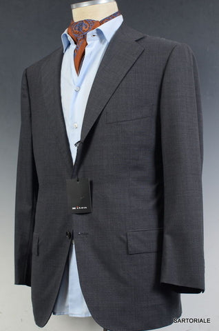 KITON Napoli Solid Gray Wool Summer Jacket Blazer EU 50 C NEW US 38 40 Short - SARTORIALE - 1