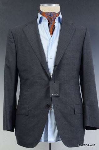 KITON Napoli Solid Gray Wool Summer Jacket Blazer EU 50 C NEW US 38 40 Short - SARTORIALE - 2
