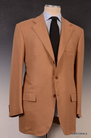 KITON Napoli Hand Made Brown Herringbone Cashmere Blazer Jacket EU 58 NEW US 48 - SARTORIALE - 2