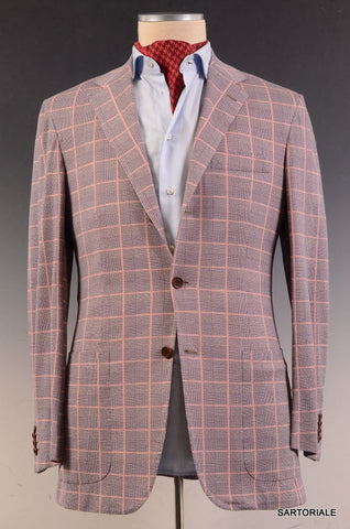 KITON Napoli Purple Glen Plaid Windowpane Summer Jacket EU 50 NEW US 38 40 - SARTORIALE - 3