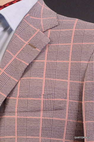 KITON Napoli Purple Glen Plaid Windowpane Summer Jacket EU 50 NEW US 38 40 - SARTORIALE - 5