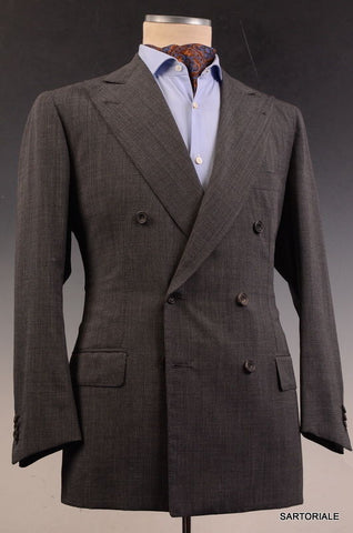 RUBINACCI LH Hand Made London House Bespoke Gray DB Wool Jacket 50 NEW US 38 40 - SARTORIALE - 1
