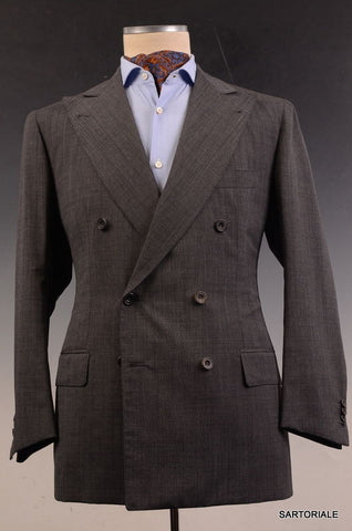 RUBINACCI LH Hand Made London House Bespoke Gray DB Wool Jacket 50 NEW US 38 40 - SARTORIALE - 2