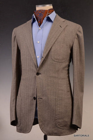 Sartoria CHIAIA Napoli Gray Wool-Cashmere Jacket 52 L NEW 40 42 Athletic Long - SARTORIALE - 2