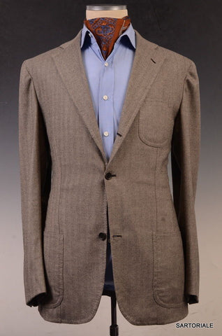 Sartoria CHIAIA Napoli Gray Wool-Cashmere Jacket 52 L NEW 40 42 Athletic Long - SARTORIALE - 1