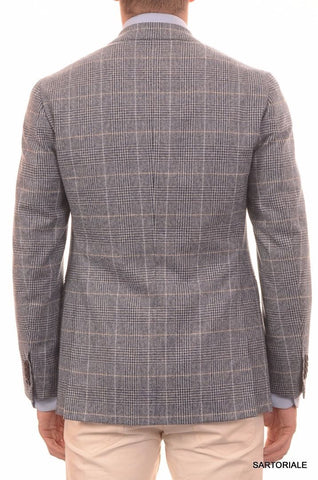 Sartoria PARTENOPEA Hand Made Blue Plaid Lamb's Wool Jacket US 38 NEW EU 48 R7 - SARTORIALE - 3