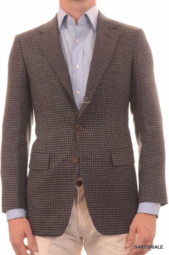 Sartoria PARTENOPEA Hand Made Blue Plaid Wool Blazer Jacket US 36 NEW EU 46 - SARTORIALE - 1
