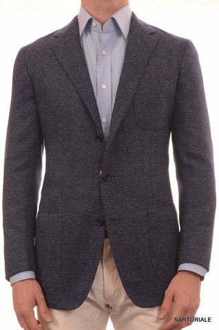 Sartoria PARTENOPEA Hand Made Blue Wool-Cotton Jacket US 38 40 NEW EU 50 - SARTORIALE - 1