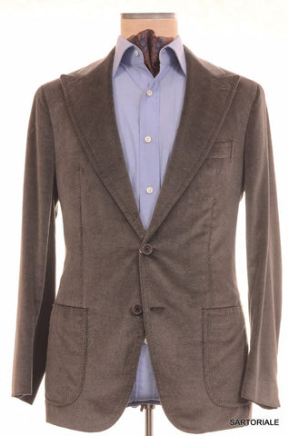 Sartoria PARTENOPEA Hand Made Silk-Wool Peak Lapel Velvet Jacket 38 40 NEW 50 - SARTORIALE - 1