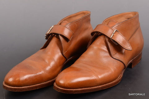 SAINT CRISPIN'S Hand Made Brown Ankle Chukka Boots Shoes 7 F / US 8 MOD 216. - SARTORIALE - 1