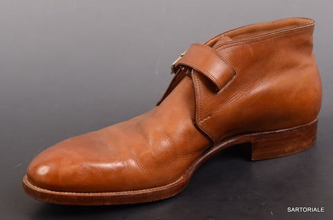 SAINT CRISPIN'S Hand Made Brown Ankle Chukka Boots Shoes 7 F / US 8 MOD 216. - SARTORIALE - 2