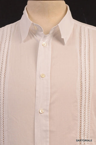 JOHN RICHMOND White Cotton Slim Fit Short Sleeve Casual Shirt US XS NEW EU 46 - SARTORIALE - 2