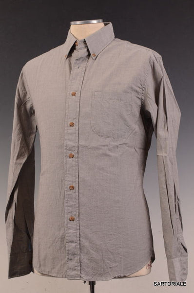 New England Shirt Company For Unionmade Gray Cotton Casual Shirt US M NEW EU 50 - SARTORIALE - 1