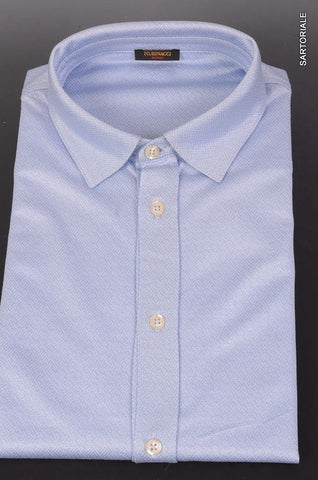 RUBINACCI Napoli Blue Geometric Cotton Causal Shirt NEW Classic Fit - SARTORIALE - 1